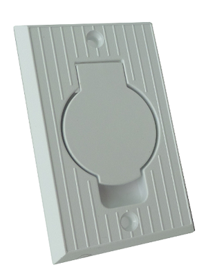 Hoover Central Vac Inlet Valve with Round Door - White