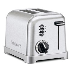 Cuisinart Brushed Stainless Steel 2 Slice Toaster CPT-160FR