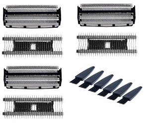 Remington DA-307, DA-107 Razor Screens & Cutters 3 Pack + Brushes