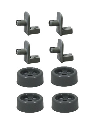GE GDWF1 Dishwasher Rack Repair Kit Roller Wheel & Axle Shaft Stud Kit