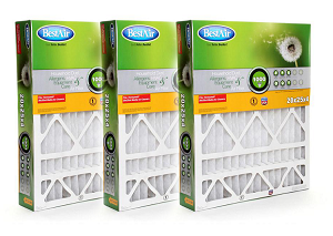 20x25x4 MERV 8 Furnace Filter  Filter HW2025, 3 Pack